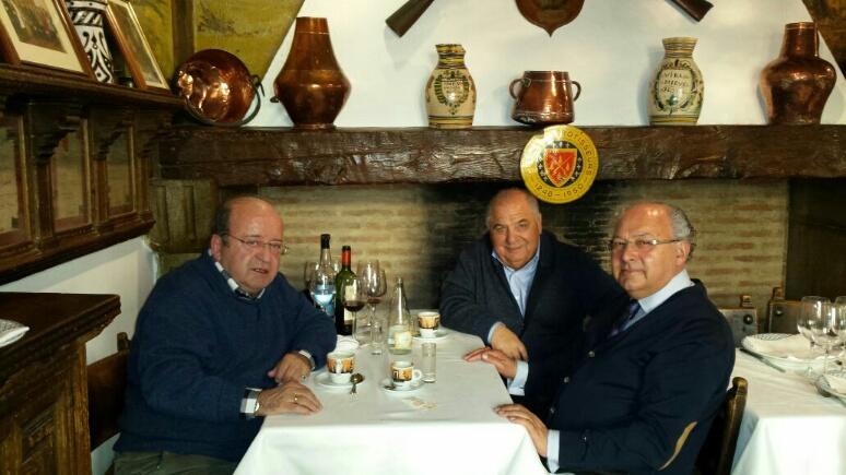 Encuentro Luis Perez Cosio,Malaquias del Pozo y Pedro Muñoz